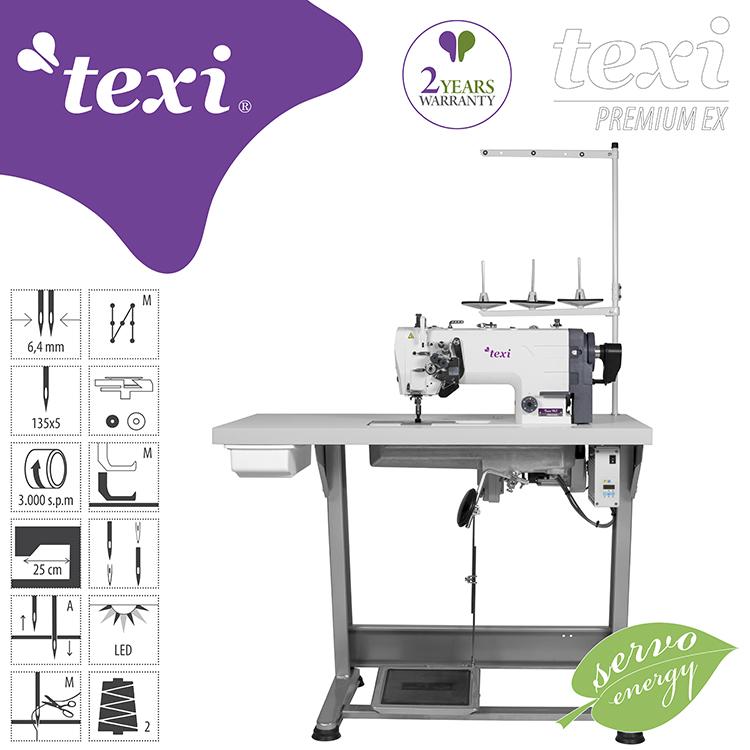 TEXI - Culture of Sewing - Industrielles Nähen - 2-Nadel Flachbett ...
