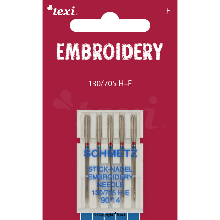 TEXI EMBROIDERY Sticknadeln 130/705 H-E, 5pcs. 5x90