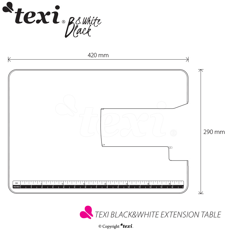 TEXI BLACK&WHITE EXTENSION TABLE